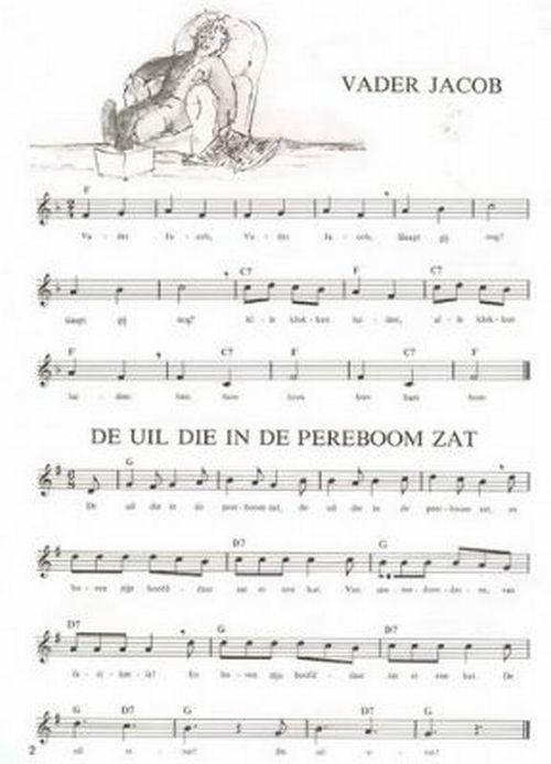 Uitgelezene Kinderliedjes 1/2 - Songbook Hollands - Dragspeloteket KT-28